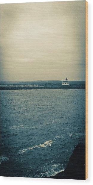 Wood Print featuring the photograph Coquille River Lighthouse by Pacific Northwest Imagery