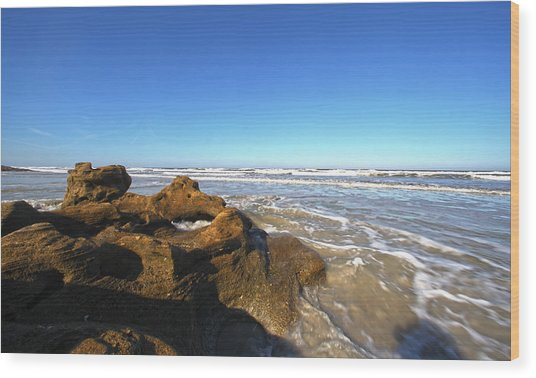 Coquina Beach Wood Print