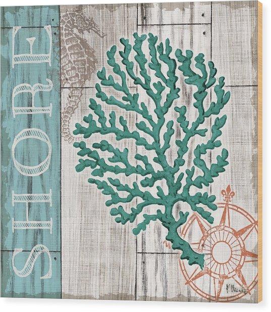 Coral Azul IIi Wood Print by Paul Brent