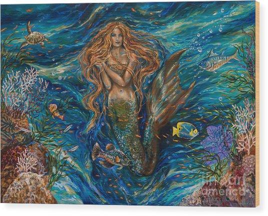 Coral Reef Rhapsody Toggled Wood Print