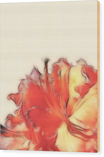 Coral Rhododendron Wood Print