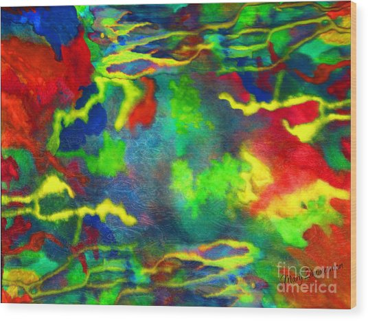 Coral Tides Wood Print