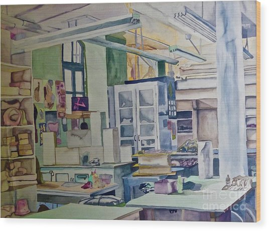 Corcoran School Of Art Ceramic Studio Back In The Days Wood Print