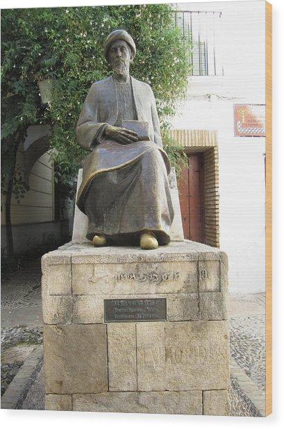 Cordoba Maimonides Statue Or Moses Ben Maimon Aka Rambam Jewish Quarter Viii Spain Wood Print