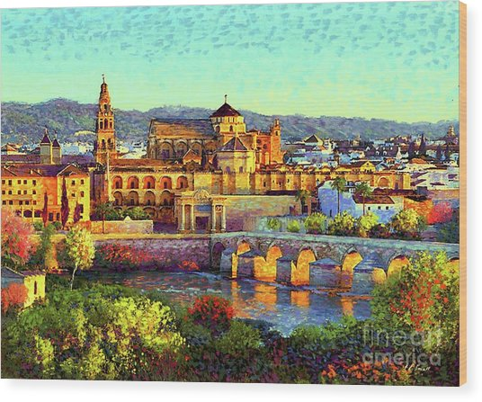Cordoba Mosque Cathedral Mezquita Wood Print