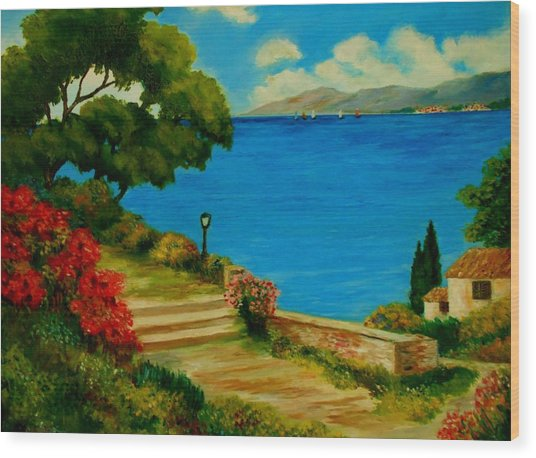Corfu-greece Wood Print
