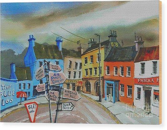 Cork... Glengarriff Signposts Wood Print