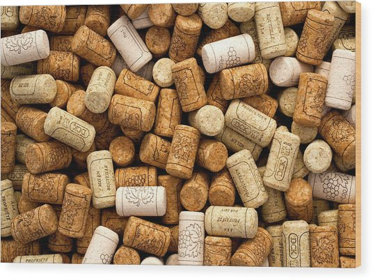 Corks Wood Print