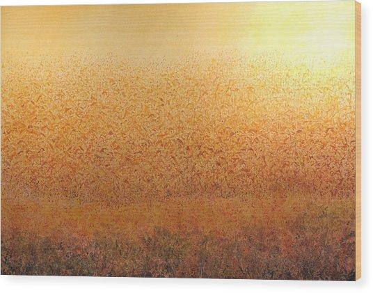 Corn Glow Wood Print