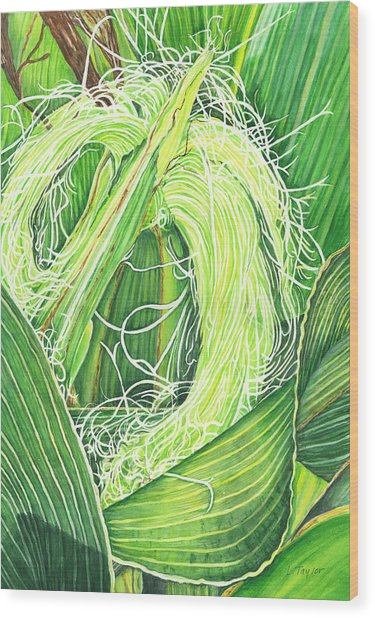 Corn Silk Wood Print