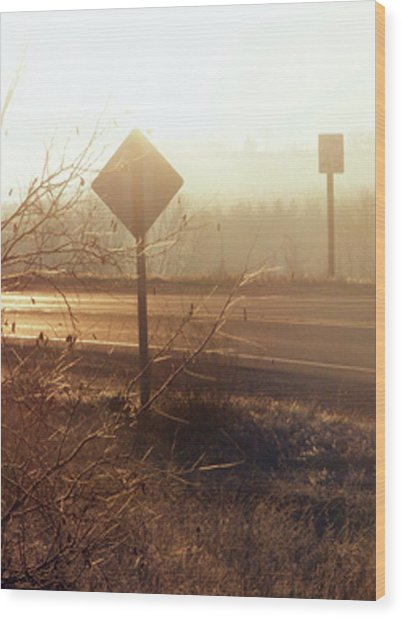 Corner Wood Print