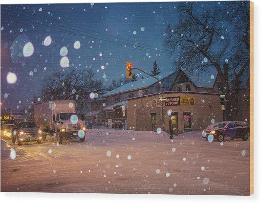 Corner Store Wood Print by Bryan Scott