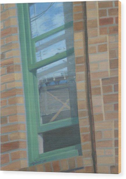 Corner Window Wood Print