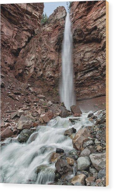 Cornet Falls In Spring Wood Print