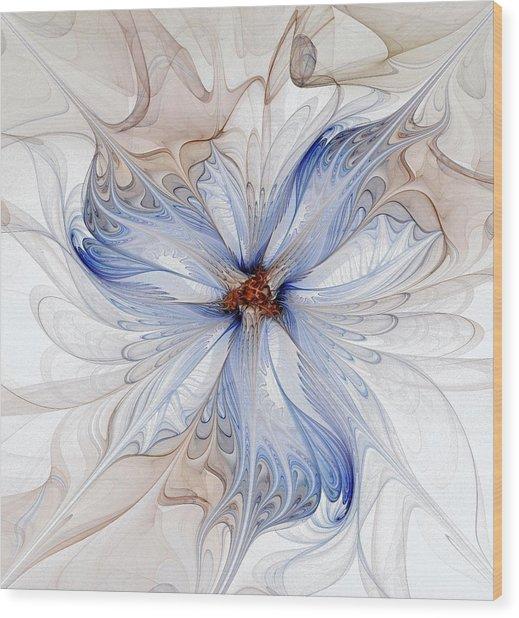 Cornflower Blues Wood Print