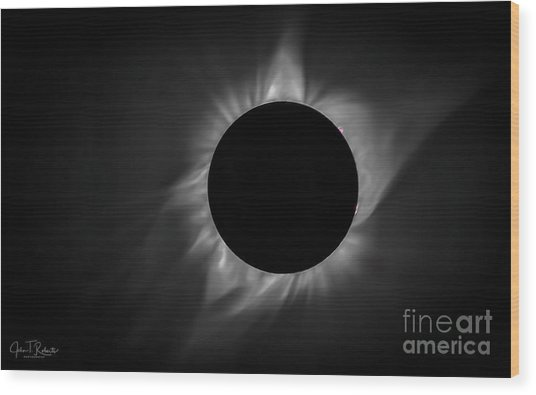 Corona During Total Solar Eclipse Wood Print