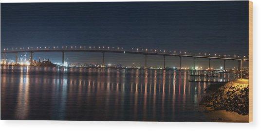 Coronado Bridge San Diego Wood Print