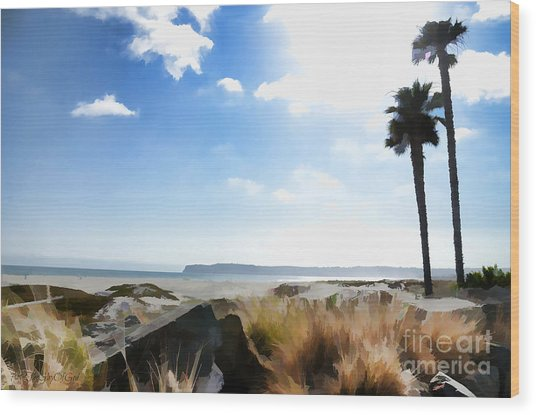 Coronado - Digital Painting Wood Print