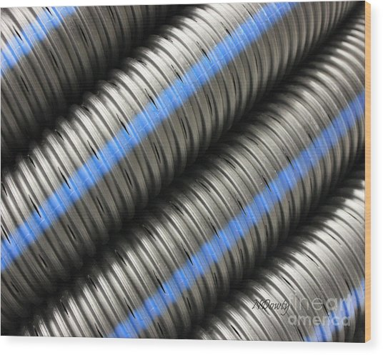 Corrugated Drain Pipe Wood Print