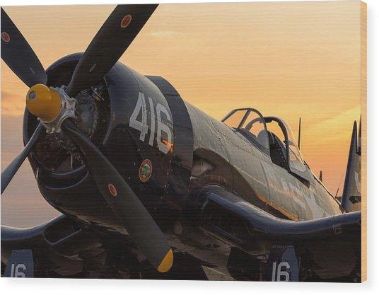 Corsair At Sunset Wood Print