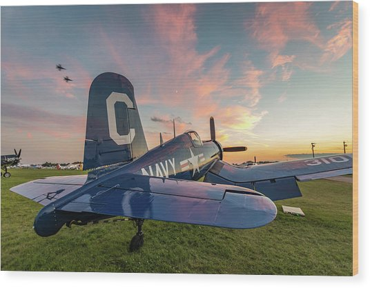 Corsair Sunset Wood Print