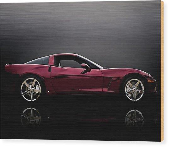Corvette Reflections Wood Print