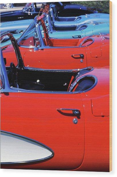 Corvette Row Wood Print