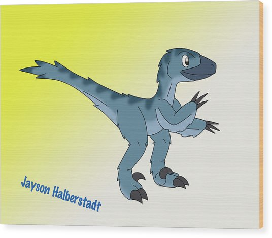 Cory The Raptor Wood Print