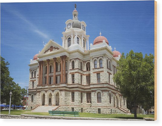 Coryell County Courthouse Wood Print