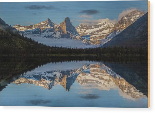 Cosley Lake // Glacier National Park  Wood Print