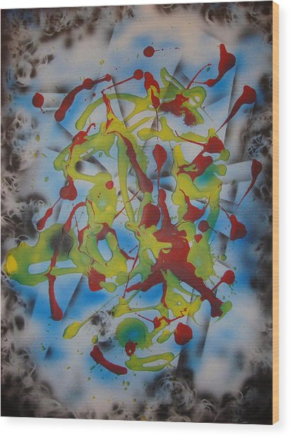 Cosmic Dance Wood Print