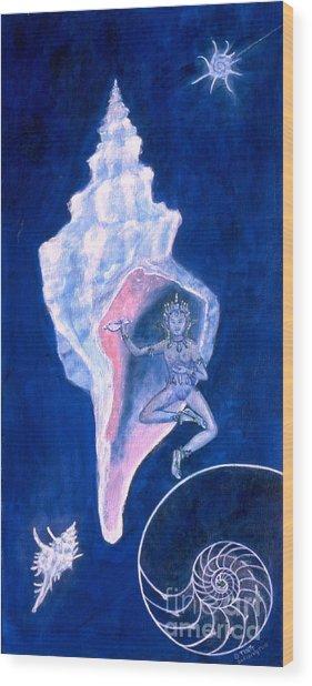 Cosmic Dancer Wood Print
