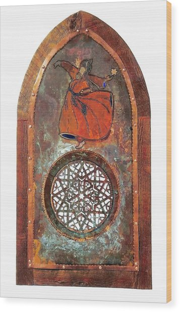 Cosmic Dervish Wood Print