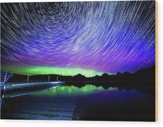 Cosmic-donald Solar Storm Wood Print by Bryan Moore