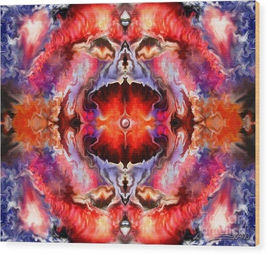 Cosmic Furnace By Spano Wood Print