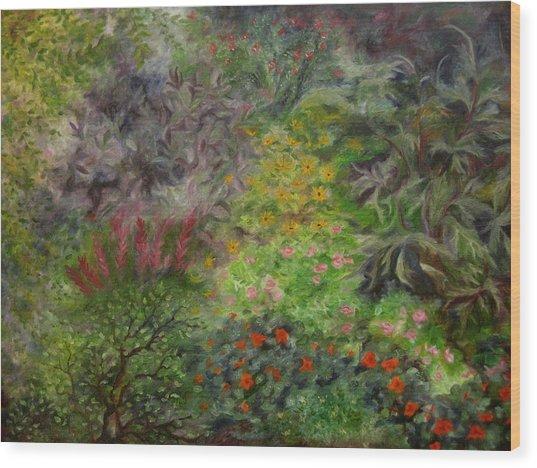 Cosmic Garden Wood Print