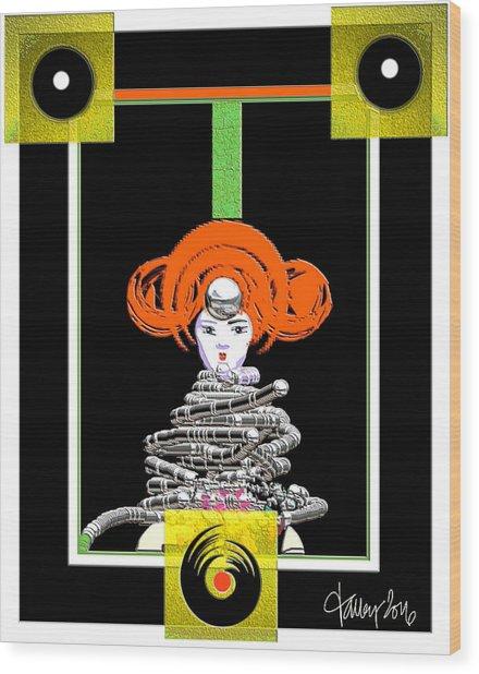 Cosmic Geisha - Close Encounter Wood Print