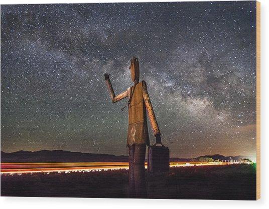 Cosmic Hitchhiker Wood Print