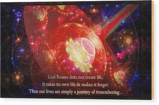 Wood Print featuring the mixed media Cosmic Inspiration God Source 2 by Shawn Dall
