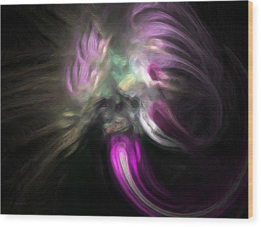Cosmic Intervention Wood Print by Wayne Bonney