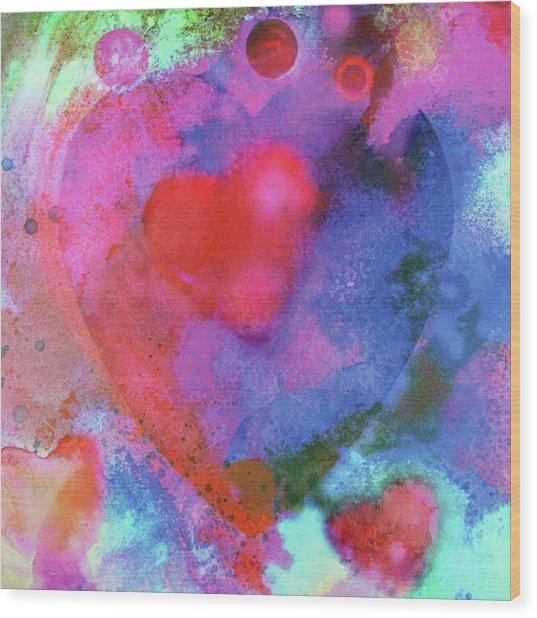 Cosmic Love Wood Print
