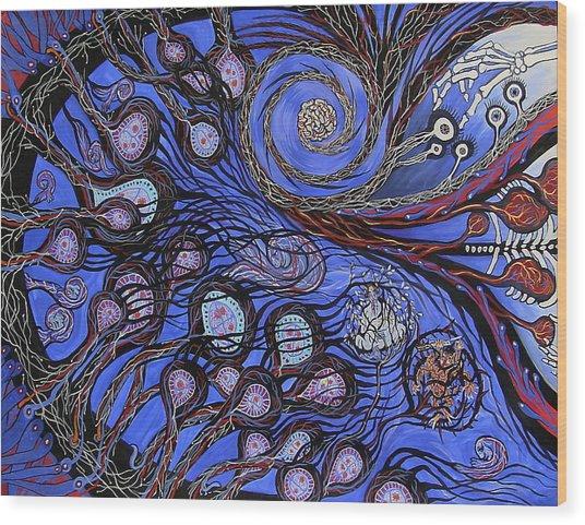 Cosmic Neural Network Wood Print