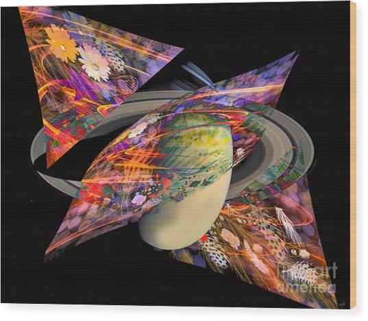 Cosmic Sensation Wood Print