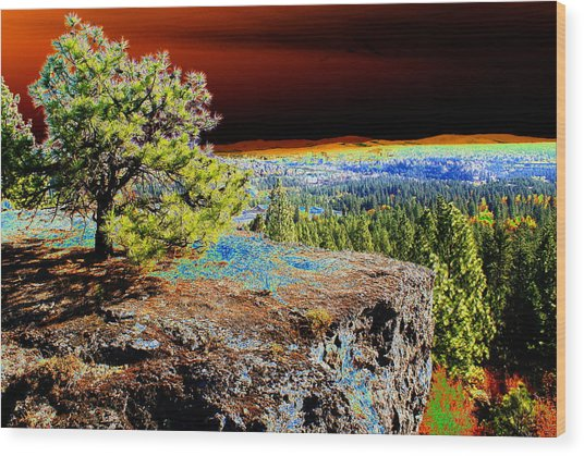 Cosmic Spokane Rimrock Wood Print