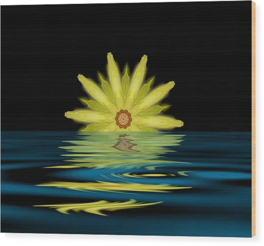 Cosmic Sun Rise Wood Print by John Mueller