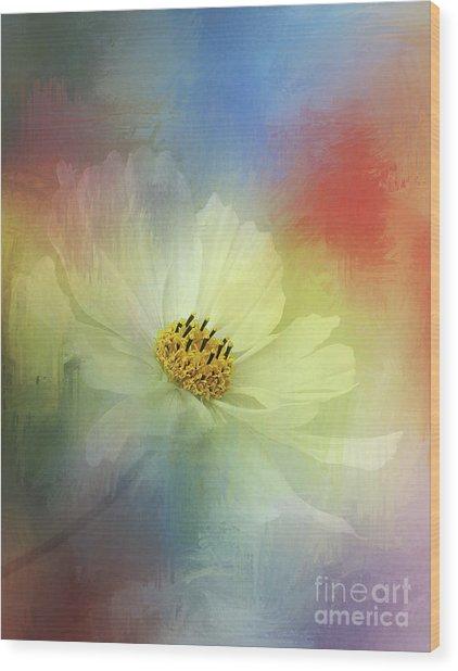 Cosmos Dreaming Abstract By Kaye Menner Wood Print