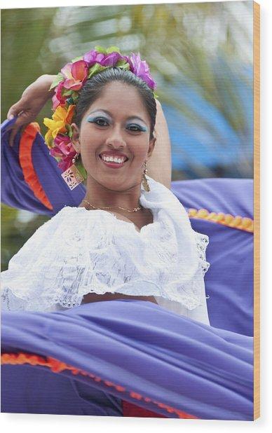 Costa Maya Dancer Wood Print