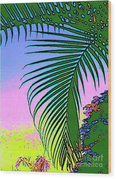 Costa Rica Palm Wood Print by Lisa Dunn