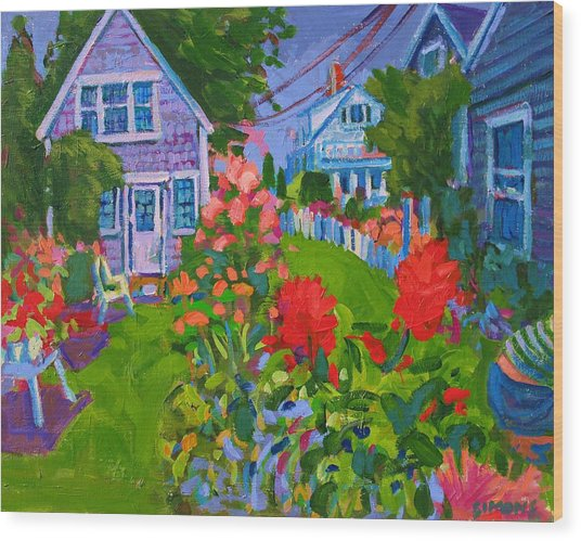 Cottage Country Wood Print by Brian Simons