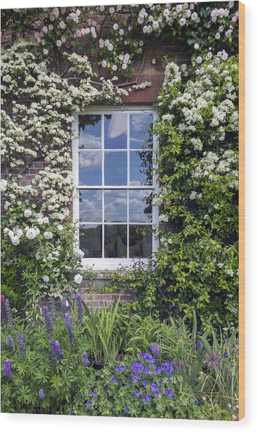 Cottage Window Wood Print
